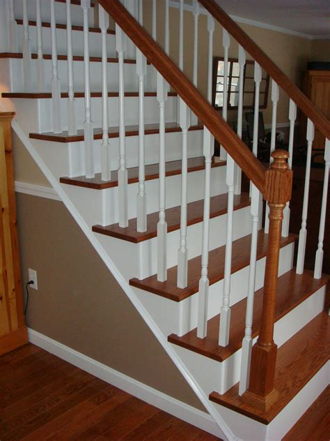 wood stair case remodelaholic top ten stair makeovers and link party