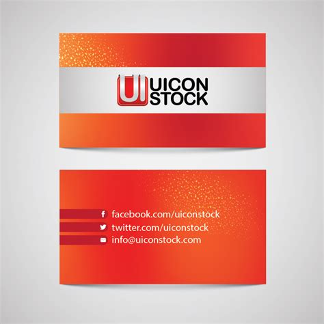business card black stock ai template free business card ai file