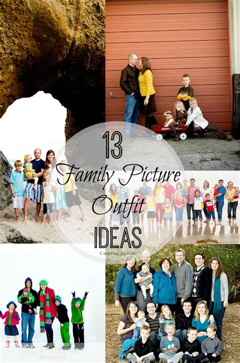 themes for family pictures picture outfit ideas