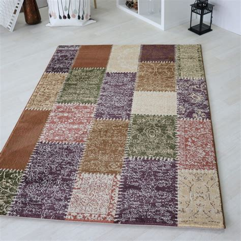 Tapis Patchwork by Tapis Style Patchwork Multicolore 224 Poils Court Codosera