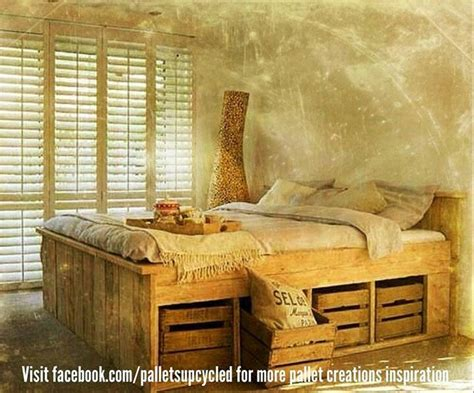 pallet bed with storage pallet bed with storage closets and storage ideas