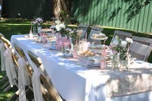 garden tea party table idea real parties vintage tea