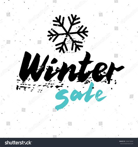 Winter Sale Vector Isolated Hand Drawn Calligraphy Words Template For Poster Banner Or Flyer Winter Banner Templates