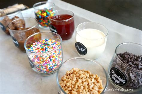 ice cream toppings bar diy ice cream bar mom favorites