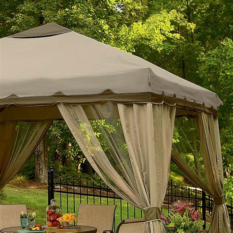 10 x 10 portable gazebo replacement canopy garden winds