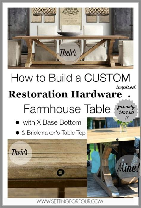 restoration hardware farmhouse table diy restoration hardware inspired farmhouse table with