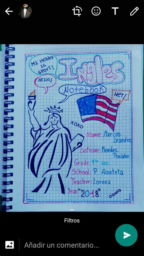 decorados in english caratulas de ingles caratula de ingles school journal