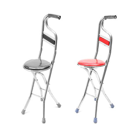 Portable Walking Chair Stool by Stainless Steel Portable Folding Walking Stick Chair Seat