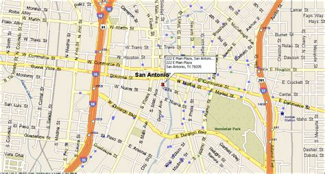 map of downtown san antonio texas map to cion cion office building downtown san antonio tx