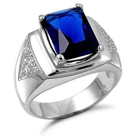 Cincin Batu Green Saphire Ring Titanium Stainless Steel blue sapphire rings for 2013