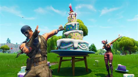 fortnite birthday cake fortnite birthday cake s locations where to for the