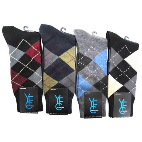 bulk patterned socks wholesale mens traditional argyle pattern crew socks