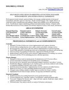 Accounting Supervisor Sle Resume by Accounting Manager Resume Accounting Manager In Nyc Resume Delores Stolfi To Do Must Do