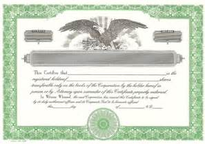corporate stock certificate template free blank certificates corporation blank stock certificates