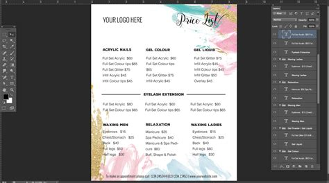 menu price list template pricing list template price list template menu template