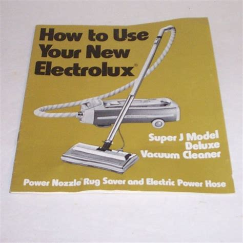 Vacuum Cleaner Electrolux Z803 electrolux canister vacuum cleaner owners manual j