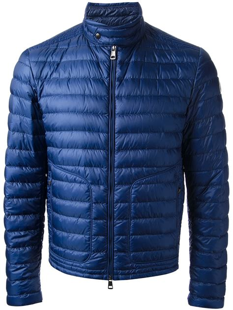 Blue Padded Sweater Dress Size Ml moncler auguste padded jacket in blue for lyst