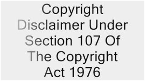 copyright disclaimer section 107 of the copyright