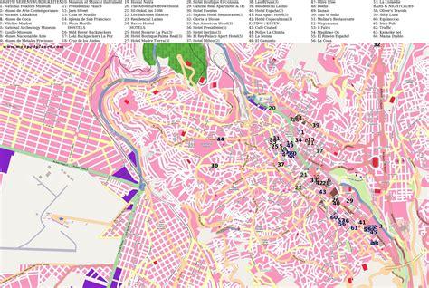 louisiana points of interest map city maps la paz