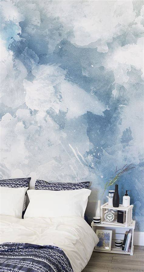 paint or wallpaper walls 6085 blue and white grunge paint watercolour wallpaper