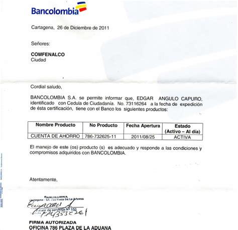 bancolombia certificado cuenta bancaria cuenta de ahorros mi proyecto tabminsroti