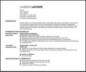 cv responsable commercial exemple cv responsable