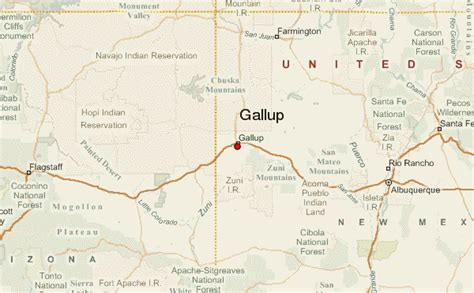 map of gallup new mexico gallup location guide