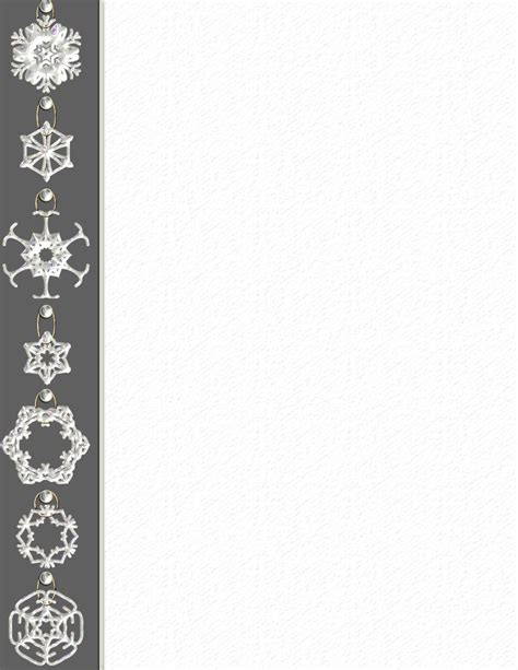 Winter Stationery Theme Downloads Pg 3 Snowflake Stationery Template