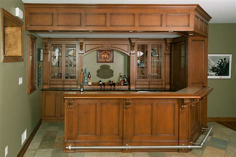 Home Built Bar Built In Entertainment Center With Matching Bookcase