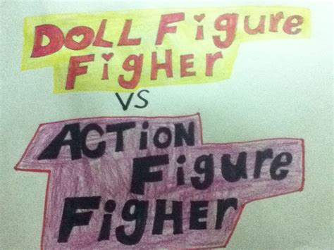 figure vs doll doll figure fighter vs figure fighter logo by