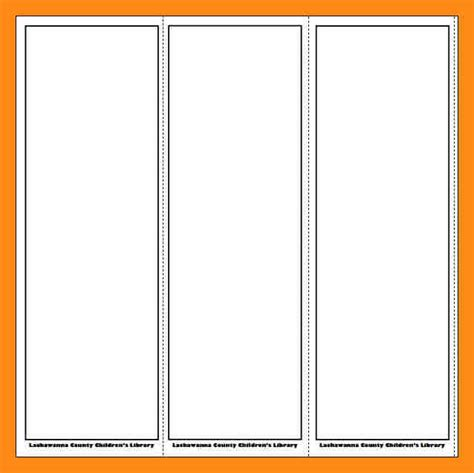 blank bookmark template 9 blank bookmarks template actor resumed