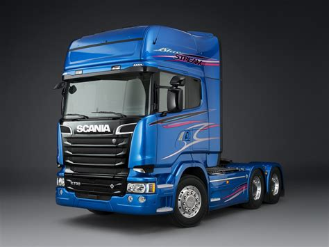 2014 scania r730 6x2 blue semi tractor f wallpaper