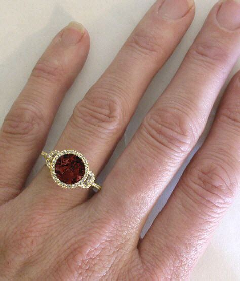 Spessartite Garnet 18 40ct yellow gold engagement rings yellow gold engagement rings