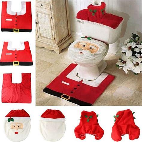 santa claus bathroom set 2017 santa claus toilet seat cover and rug bathroom set