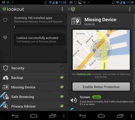 lookout for android lookout for android adds signal flare feature for better device tracking
