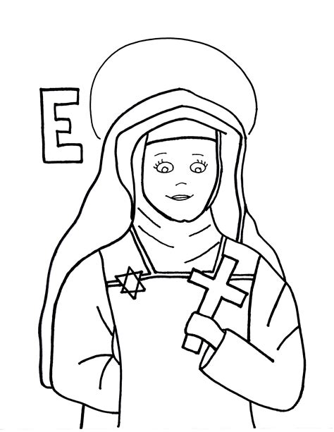 edith stein saints to color