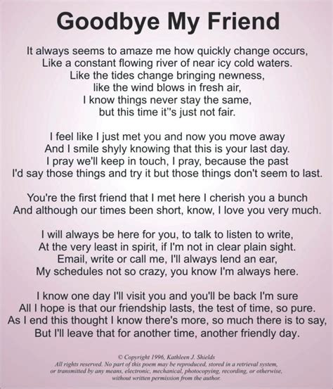 a letter to a best friend emotional emotional farewell quotes for friends sad poems about