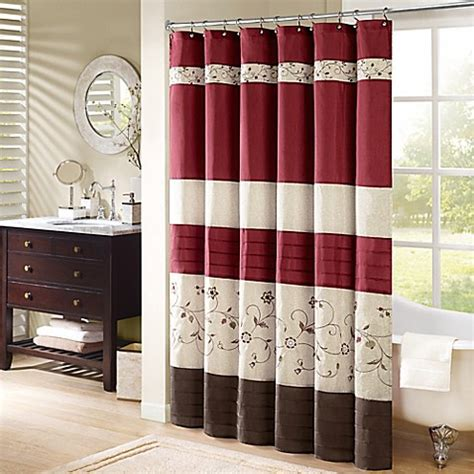madison park bathroom madison park serene shower curtain bed bath beyond