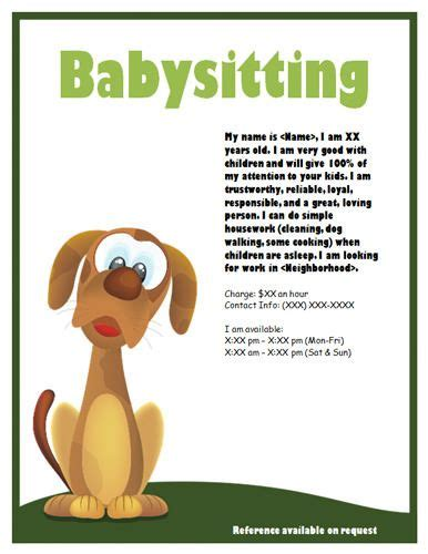 how to make a babysitter flyer 5 steps with pictures wikihow