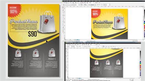 Membuat Poster Dengan Corel Draw | cara membuat desain flyer poster brosur di coreldraw