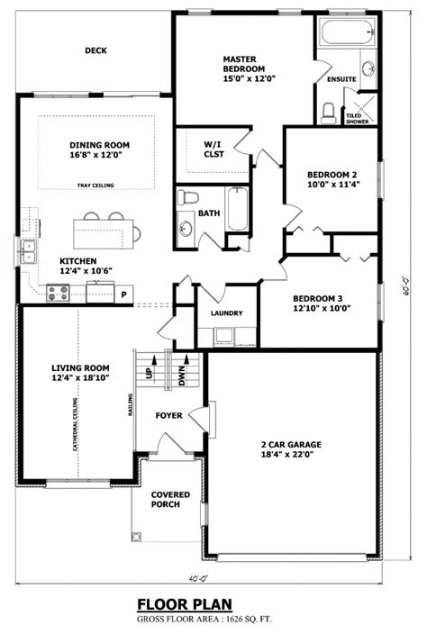 Canadian Home Designs Floor Plans Canadian House Plans Canadian Ranch House Plans Raised