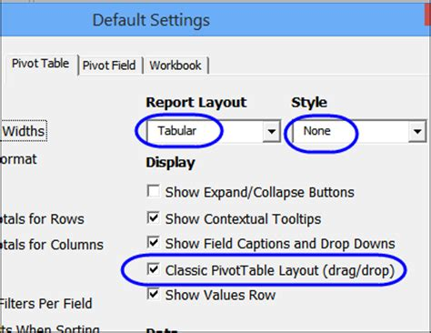 classic pivottable layout default excel 2010 why is everyone talking about classic pivot table default