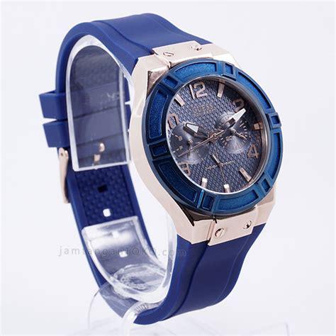 Jam Tangan Geuss Terbaru Kulitwarna Biru harga sarap jam tangan guess u0571l1 karet biru