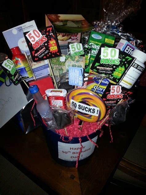 50th Birthday Basket.   Birthday   Pinterest