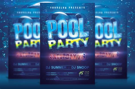 party flyer design kostenlos 10 pool party flyer designs design trends premium psd