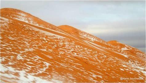 snowfall in sahara desert unbelievable photos show freak snowfall in the sahara