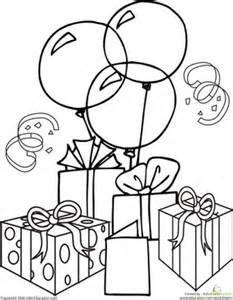 Birthdays first grade holiday worksheets birthday coloring page