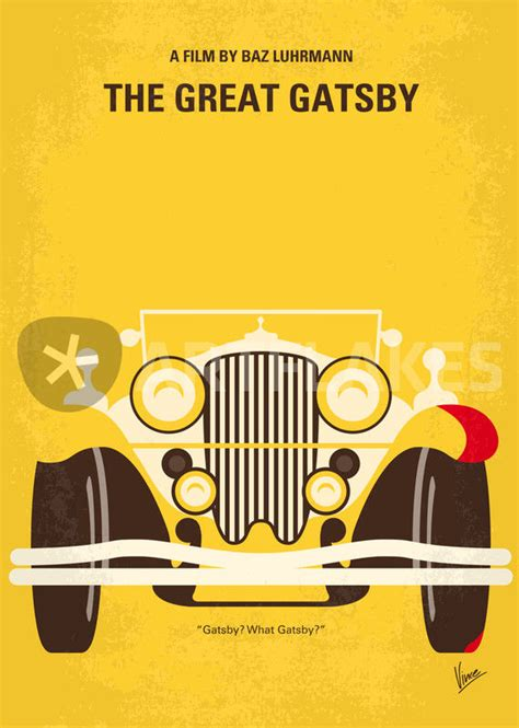 symbolism in great gatsby movie quot no206 my the great gatsby minimal movie poster quot graphic