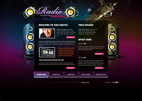 radio station dynamic flash template on behance
