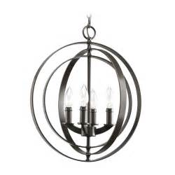 Orb Chandelier Uk Progress Orb Chandelier In Antique Bronze Finish P3827